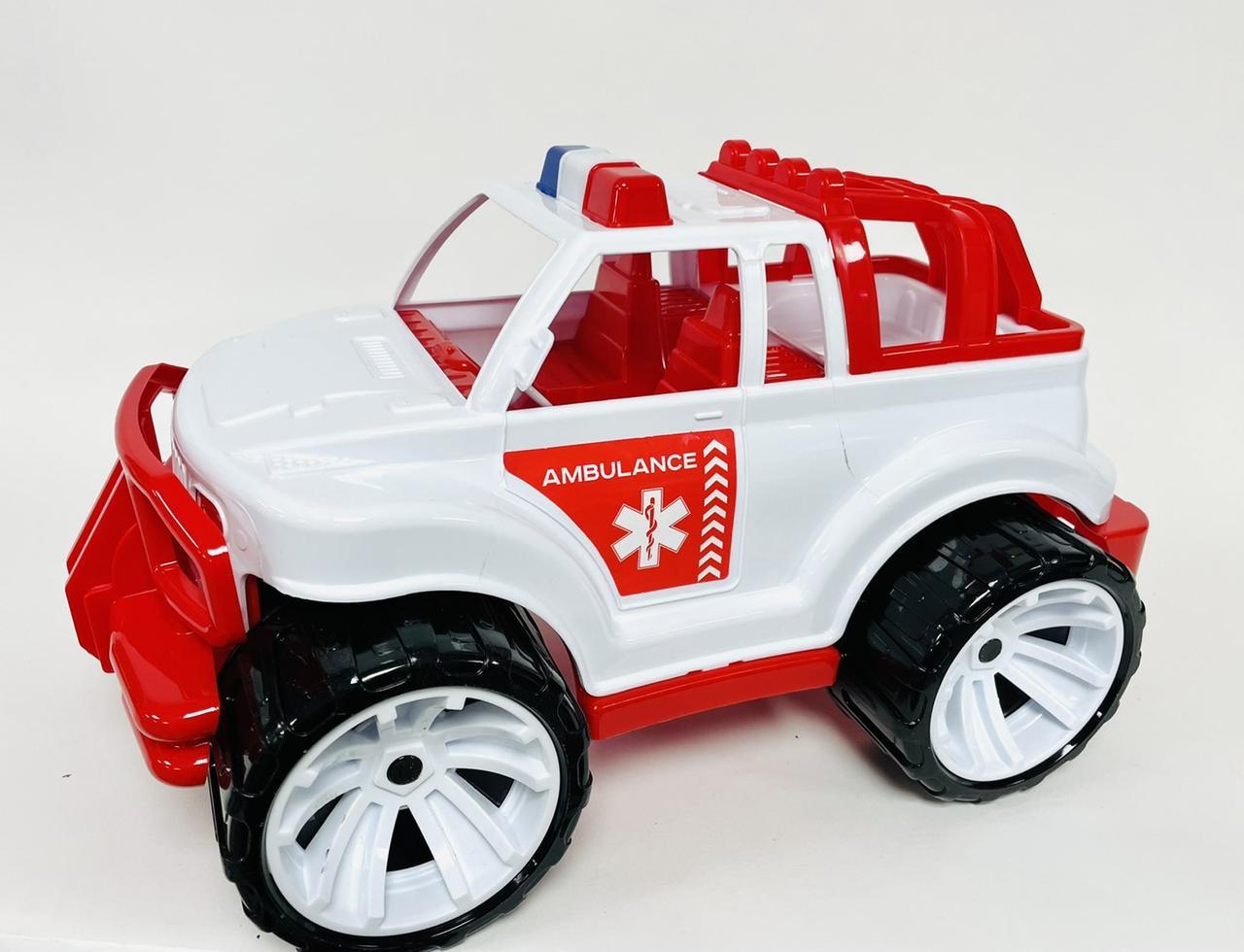 "Іграшка дитяча ""Позашляховик швидка допомога   великий» арт 335(Полуциг)"