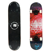 Скейт дерево 6 слоёв, метал.подвеска, колесо ПУSL-2-4 (Черн)