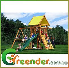 Детские площадки для дворов / дачи из дерева Leaf 1