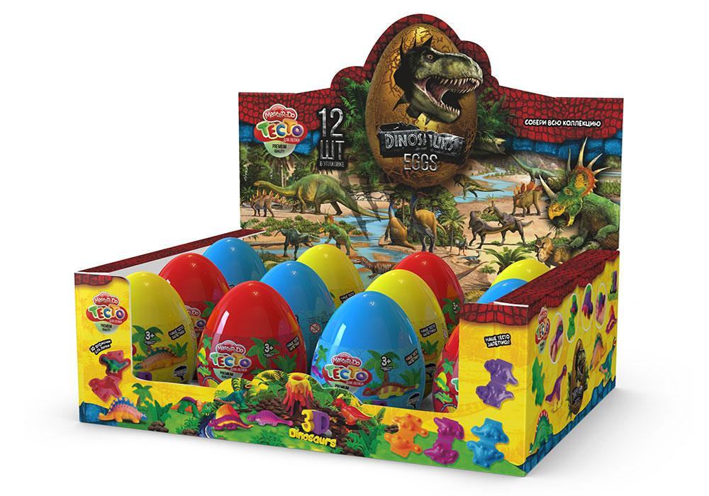 """Набір креативної творчості"""" Тісто для ліпки """"Master Do"""" Dinosaurs EGGS рос. (12)(Пок)"""