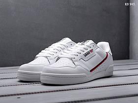 Мужские кроссовки Adidas Continental 80 белые  / мужские кроссовки кеды Адидас Континентал (Топ реплика ААА+)