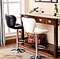 Барний стілець Hoker SEWILA з поворотом сидіння і підставкою для ніг БЕЖЕВИЙ, фото 5