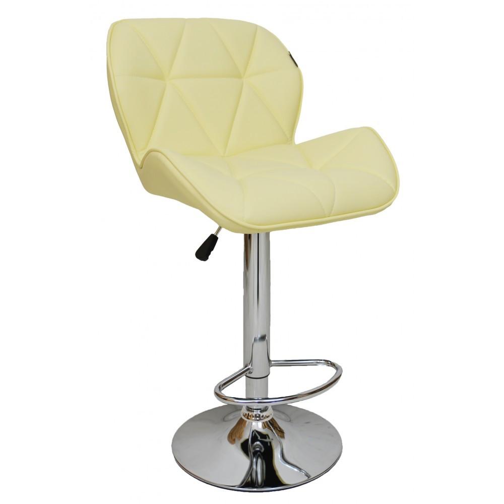 Барный стул Hoker SEWILA с поворотом сиденья и подставкой для ног БЕЖЕВЫЙ