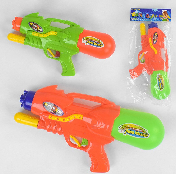 Водний пістолет 381 (72/2) 2 кольори, з накачуванням, в кульку [Пакет]