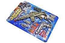Набір зброї на присосках на блістері 168E-30 р. 51*38*2см(Мас)