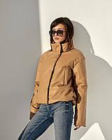 Шикарна демісезонна куртка весна-осінь з еко шкіри розміри 42-48