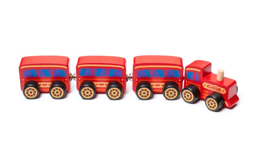 "Дерев'яна іграшка-поїзд ""Сubika"""