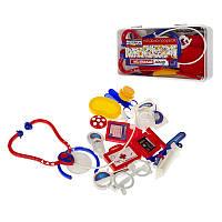 """Ігровий набір """"Маленький лікар"""" в пластиковій коробці (17 предметів)"""