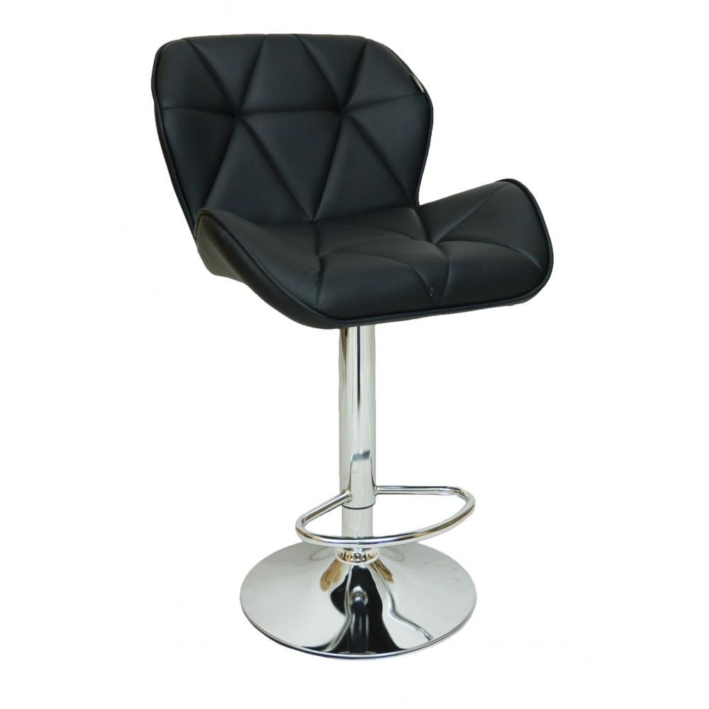Барний стілець Hoker SEWILA 868 з поворотом сидіння і підставкою для ніг ЧОРНИЙ