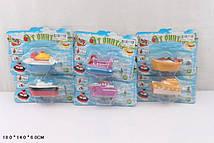 Водоплавні іграшки 6321 (288шт / 2) кораблики 6 видів мікс, на планшетке18 * 14 * 6 см (КІ)