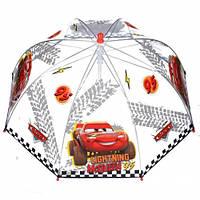 Детский зонтик трость Тачки Cars полупрозрачный 60 см