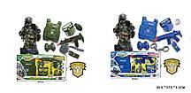 Ігровий набір CH810A-2/CH810B-2(18шт/2)2вида: військовий і поліц. набір, зброя+аксесуари, в кор. 65,