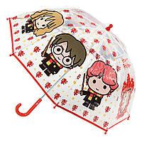 Детский зонтик трость Гарри Поттер полупрозрачный 60 см