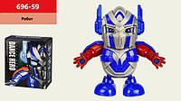 Робот батар. танцюючий 696-59(72шт/2) світло, звук, р-р іграшки– 17*7.5*18 см, в кор.17*9,5*19см(КИ)