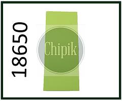 Термоусадочная лента для аккумуляторов 18650, зеленая