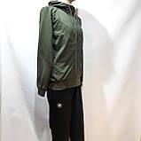 Спортивный костюм мужской Весна-Осень в стиле Puma оливковый, фото 4