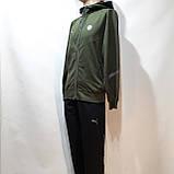 Спортивный костюм мужской Весна-Осень в стиле Puma оливковый, фото 3