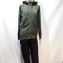 Спортивний костюм жіночий Весна-Осінь у стилі Puma оливковий