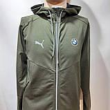 Спортивный костюм мужской Весна-Осень в стиле Puma оливковый, фото 2