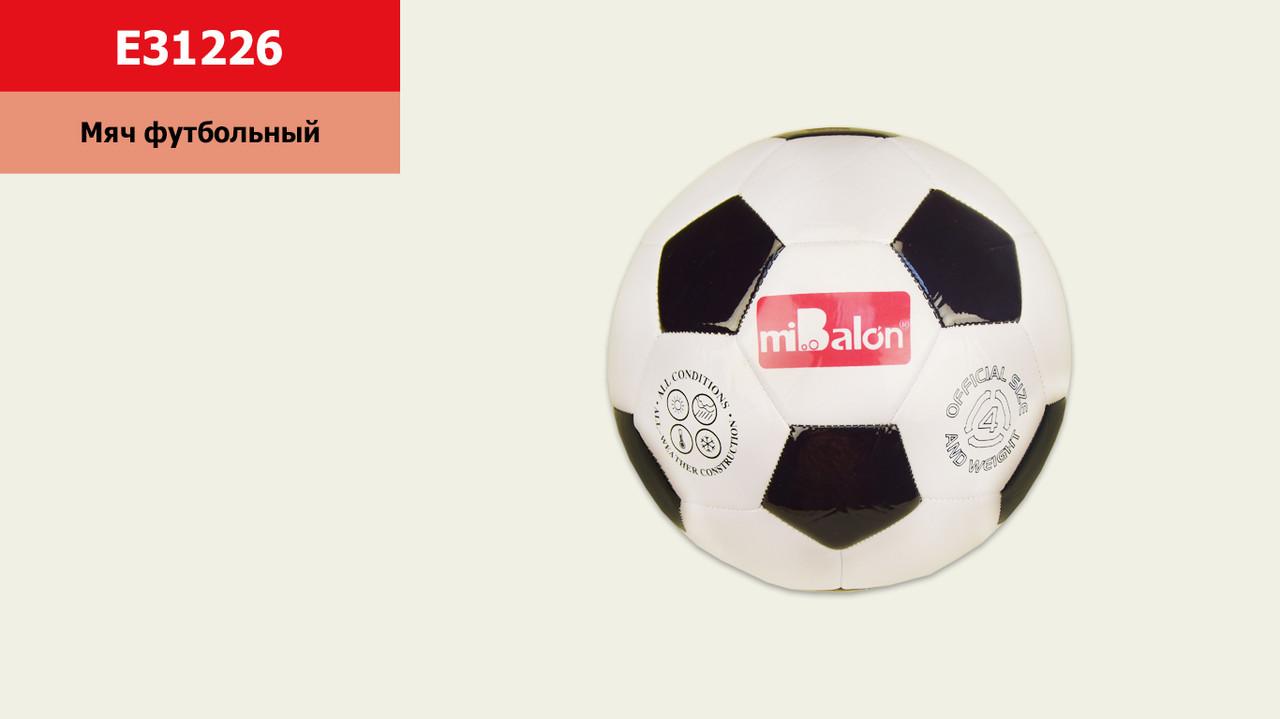 Мяч футбол E31226 (80 шт) №4, PVC, 200 грамм,1 цвет(КИ)