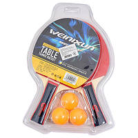 Тенисный набор  в сумке, две ракетки 26 см, 3 шариков в наборе SL-2101-A(Черн)