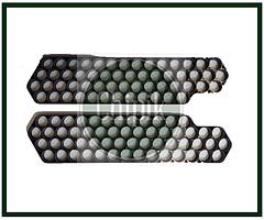 Крепеж, холдер, сота для 56-х аккумуляторов 18650, черный