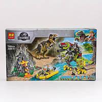 Конструктор Бой тираннозавра и робота-динозавра, 740 деталей11337(Черн)