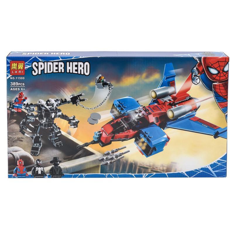 Конструктор Реактивний літак Людини-Павука проти Робота Венома 11500(Черн)