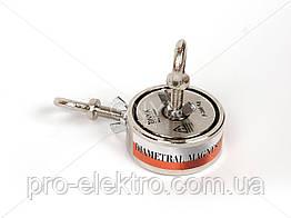 """Поисковый неодимовый магнит двухсторонний """"Onyx-magnet"""" F 200x2 (сила 300 кг) N52"""