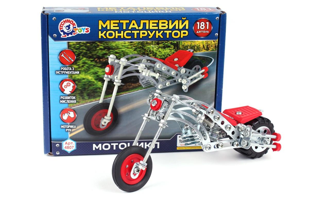 """Конструктор металевий """"Мотоцикл ТехноК"""" арт.4807(ІФ)"""