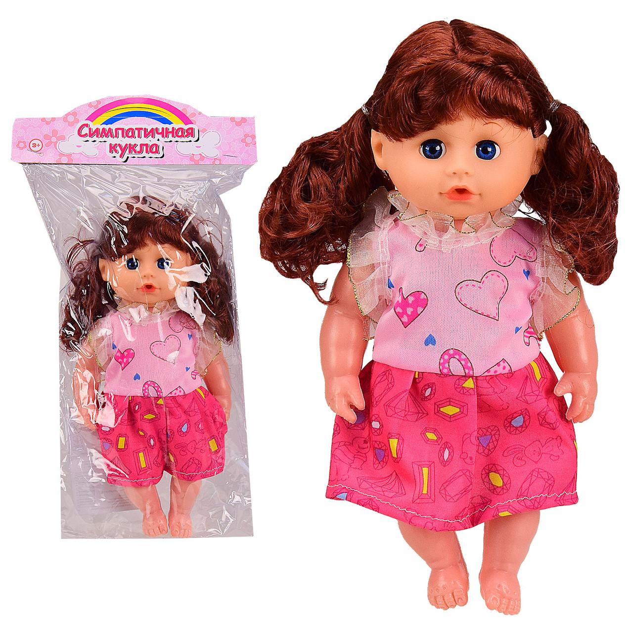 Кукла муз E335-93 (60шт/2) русский чип,в пакете 20*36 см, р-р игрушки - 18 см(КИ)