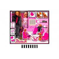 """Набір ляльок """"Сім""""я"""" з меблями (коробка) 68091 р. 38*7,5*33см.(Мас)"""