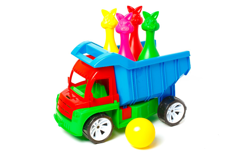 Вантажівка Алекс (з кеглями зайці + 1 куля) (Полуциг)