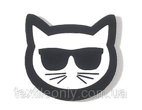 Нашивка Кіт Лагерфельда / Lagerfeld's Cat 40х38 мм