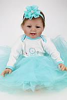 Силиконовая Коллекционная Кукла Реборн Reborn Девочка ( Виниловая Кукла ). Арт.384, фото 1