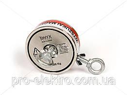 """Поисковый неодимовый магнит двухсторонний """"Onyx-magnet"""" F 400x2 (сила 600 кг) N52"""