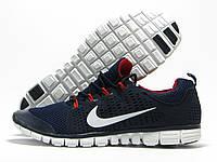Кроссовки мужские Nike Free Run 3.0 темно-синие (найк фри ран)