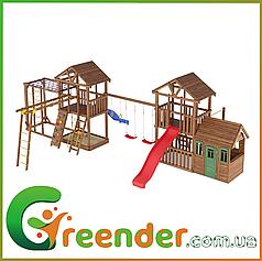 Детские уличные игровые комплексы, городки, горки Leaf 11