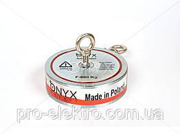 """Поисковый неодимовый магнит двухсторонний """"Onyx-magnet"""" F 600x2 (сила 800 кг) N52"""