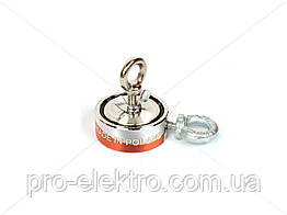 """Поисковый неодимовый магнит двухсторонний """"Onyx-magnet"""" F 80x2 (сила 120 кг) N52"""