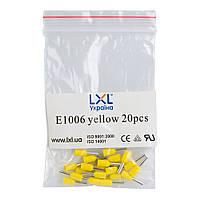 Наконечник штыревой втулочный изолированный 1.0 мм² (20 шт.) желтый LXL