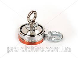 """Поисковый неодимовый магнит двухсторонний """"Onyx-magnet"""" F 100x2 (сила 180 кг) N52"""