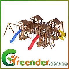 Деревянный детский спортивно-развлекательный комплекс Leaf 16