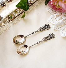 Две серебряные чайные ложки, Хильдесхаймская Роза, серебро, 835 проба, Германия, Albert Bodemer