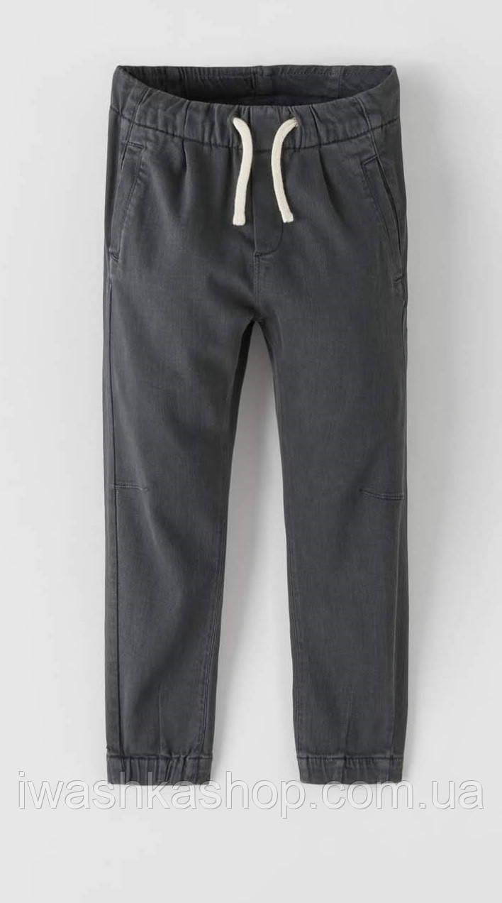 Эластичные хлопковые штаны джоггеры на мальчика 8 лет, р. 128, ZARA