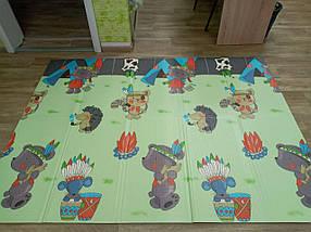 """Розвиваючий килимок дитячий термо """"Подорож+ Поляна"""" 180*200*10 мм, фото 3"""