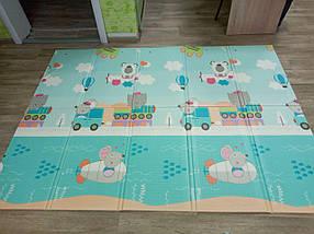 """Розвиваючий килимок дитячий термо """"Подорож+ Поляна"""" 180*200*10 мм, фото 2"""