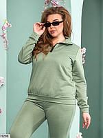 Лаконичный женский костюм в спортивном стиле с 48 по 54 размер, фото 2