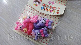 Детские резинки для волос Мишка с бантиком цвет в ассортименте(4 шт)