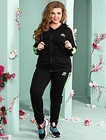 Женский спортивный костюм с широкими контрастными лампасами с 48 по 54 размер, фото 2